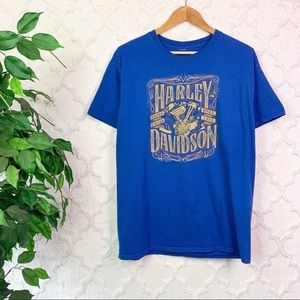 Harley-Davidson Blue Double Sided Graphic Tee